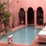 the pool courtyard