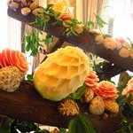 Fruit Carving at Business Lunch