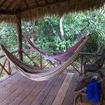 hammocks on the porch