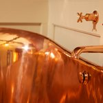 Our stunning copper bath