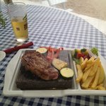 Hot stone dining - STEAK!