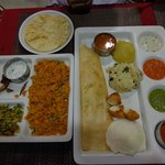 Vegetable thali and rice