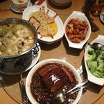 What we had ordered, big dishes and tasty