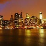 Pont de Brooklyn vue sur Manhattan Wall Street