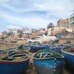 la plage e il villaggio