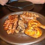 Pork chop, Pork belly, Lamb chop, Chicken quarter.