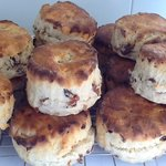Homemade scones fresh out of the oven.