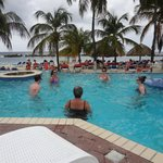 Aqua fit class, in the main pool