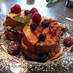 Blueberry/Raspberry Stuffed French Toast