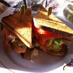 Club-sandwich al salmone
