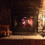 Fireplace kept us warm all night.