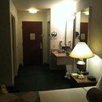 looking towards the door. Extra sink