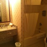 bathroom-nice shower and shampoo/conditioner/soap dispenser