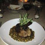 Lamb with lentils