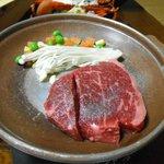 松阪牛のステーキ