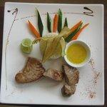 grilled tranch of pelagic fish,mbea rice,zanzibar spice butter