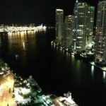 Night View from Balcony... Miami Beach in Distance