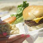 HUGE Cheeseburger in paradise