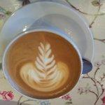 Pretty little latte!  Delicious also!