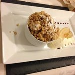 Crumble with Rosemary Ice Cream
