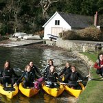 Hen doo ready to set out on Frenchman's Creek Kayak Adventure