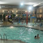 large pool with kiddie area in background.