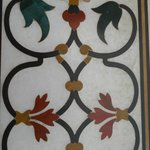 precious stone inlay on marble