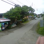 Back view onto the Main Street of Cahuita