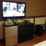 King Room:  TV, Refrig, Dresser