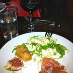 Calamari; Fig, Proscuitto and Buffalo Mozzarella, House Bread