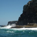 Coastline near Manly with surf
