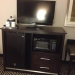 Our room had a microwave and mini fridge