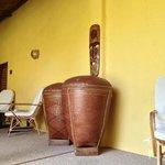 The large wood jars