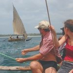 Mbuyu Beach Bungalows - sailing with the fishermen