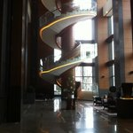 circular stairs in the lobby