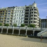 View of the Hotel Niza from the beach. Our room was center on 3rd floor.