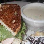 Turkey Club and Green Bean Dumpling Soup