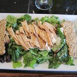 Caesar salad with grilled chicken at the Old Town Bistro
