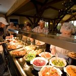 Hot lunch buffet served every day from 12-2pm