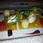 goats cheese mousse starter...yummy