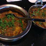Chicken Karahi and Lamb Rogan Josh