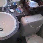 W.C juste à côté du lavabo ...
