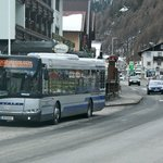 Ski buss stop