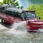 Le Crocodile Rouge, un bus amphibie.