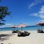 The beach otside the hotel