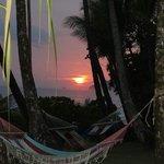 sunset with hammocks