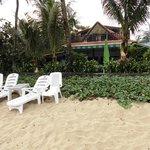 devant la maison sur la plage