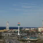 View of Ferriswheel from deck of room 700