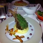 Rack of lamb main (carbonara to rear)