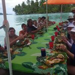 Our group enjoying lunch during our tour.